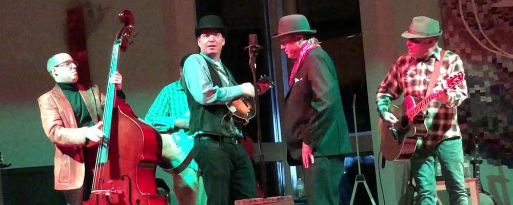 The Gravy Boys performing