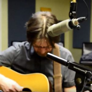 Wes Collins playing in a studio