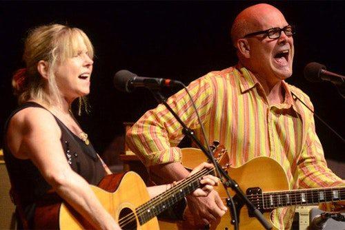 Marti Jones and Don Dixon performing